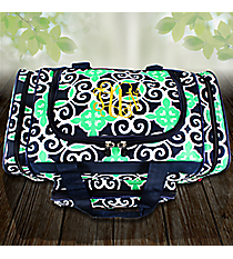 """17"""" Navy and Green Celtic Swirl Duffle Bag #THQ417-NAVY"""