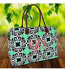 Navy and Green Celtic Swirl Shoulder Tote #THQ804-NAVYShoulder Tote #YAO804-CORAL