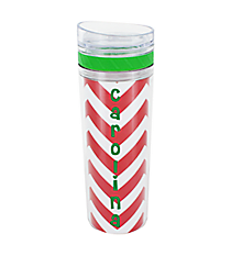 Chevron with Green Trim 14 oz. Laguna Double Wall Tumbler with Straw #TM2716-GN-B *Choose Your Color