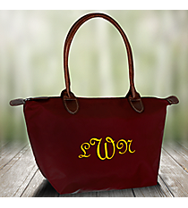 Solid Burgundy Tote Bag #ROL552-BUR