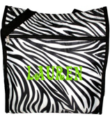 Zebra Print Shopper Tote with Black Trim #SH13-1011