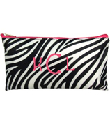 "Zebra with Pink Trim 10"" Pouch #CB8-2006-P"