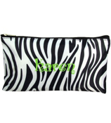 "Zebra with Black Trim 10"" Pouch #CB8-2006"