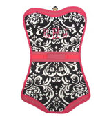 Damask with Pink Trim Folding Lingerie Bag #CB60-2010-P