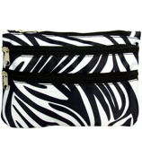Zebra with Black Trim Travel Pouch #CB2-2006