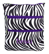 Zebra with Purple Trim Large Hipster #MB2-2006-PU