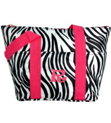 Zebra with Pink Trim Insulated Lunch Bag #LT15-2006-P