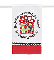 """God Sent Us a Gift"" Tea Towel #9720341"