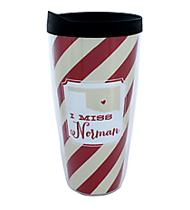"""I Miss Norman"" 22 oz. Double Wall Tumbler with Straw #F132092"