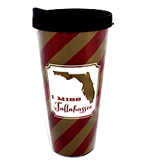 """I Miss Tallahassee"" 22 oz. Double Wall Tumbler with Straw #F133323"