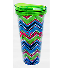 Watercolor Chevron 22 oz. Double Wall Tumbler with Straw #F135855