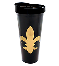Fleur De Lis 22oz. Double Wall Tumbler with Straw #F137236