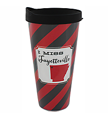 """I Miss Fayetteville"" 22 oz. Double Wall Tumbler with Straw #F132090"