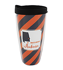 """I Miss Auburn"" 22 oz. Double Wall Tumbler with Straw #F132914"