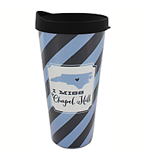 """I Miss Chapel Hill"" 22 oz. Double Wall Tumbler with Straw #F132915"