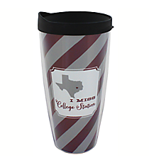 """I Miss College Station"" 22 oz. Double Wall Tumbler with Straw #F132916"
