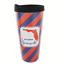 """I Miss Gainesville"" 22 oz. Double Wall Tumbler with Straw #F132919"