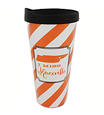 """I Miss Knoxville"" 22 oz. Double Wall Tumbler with Straw #F132920"