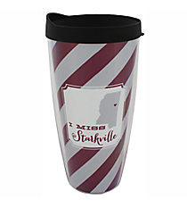"""I Miss Starkville"" 22 oz. Double Wall Tumbler with Straw #F132921"