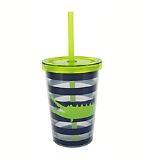 Kid's Crocodile 10 oz. Double Wall Tumbler with Straw #F134133