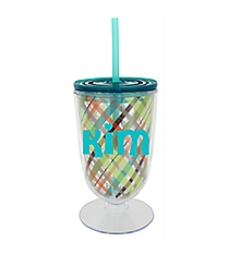 Woodland 18 oz. Double Wall Iced Tea Tumbler with Straw #F134834