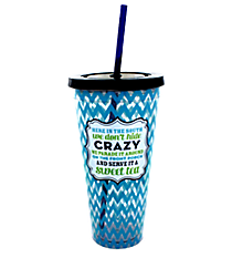 """Crazy"" 35 oz. Double Wall Tumbler with Straw #F126847"