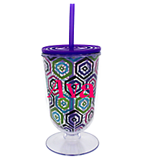 Watercolor Honeycomb 18 oz. Double Wall Iced Tea Tumbler with Straw #F135849