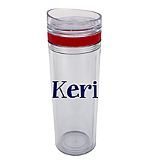 Red 14 oz. Laguna Double Wall Tumbler with Straw #TM2716-RD-B