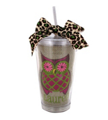 Autumn Owl Burlap 16 oz. Acrylic Tumbler with Straw #581