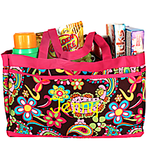 Whimsical Wonderland Fold-able Utility Bag #KPQ559-HPINK