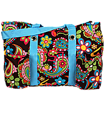 Whimsical Wonderland with Turquoise Trim Utility Tote  #KPQ585-TURQ