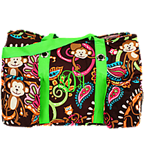 Monkey Island with Lime Trim Utility Tote #MON585-LIME