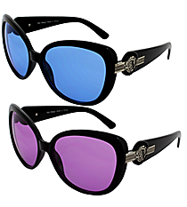ONE PAIR OF DESIGNER LOOK SUNGLASSES #V1040