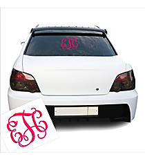"5"" Vinyl 3 Initial Monogram Decal *Customizable"
