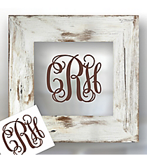"6"" Vinyl 3 Initial Monogram Decal *Customizable"