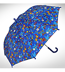 "32"" Children's Umbrella in Blue Sport Print #W104CH-BLSPOR"