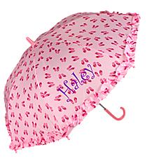 """34"""" Children's Umbrella in Pink Flip Flop Print #W104CH-SHOE-PINK"""