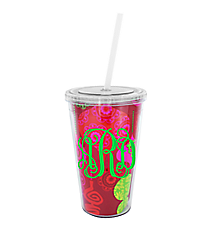 Christmas 16 oz. Double Wall Tumbler with Straw #WA334056-CL
