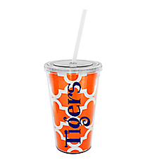 Orange Moroccan 16 oz. Double Wall Tumbler with Straw #WA334056-CL