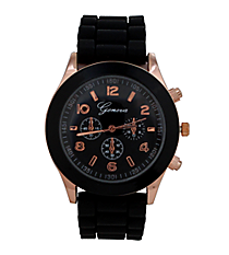Black Jelly Watch #7869-BK