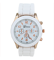 White Jelly Watch #7869-WH