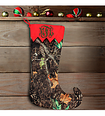 "20"" Long Camo with Red Trim Stocking #WHST-NCMRED-RED"