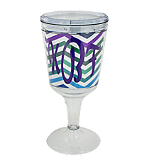 Multi Chevron Double Wall Wine Goblet #Chevron-Multi