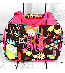 Owl Give a Hoot Insulated Bowler Style Lunch Bag #WQL255-HPINK