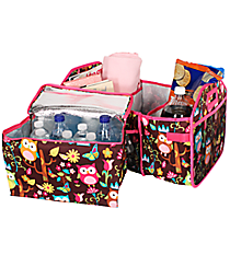 Owl Give a Hoot Utility Storage Tote with Insulated Bag #WQL516-HPINK