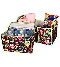 Owl Give a Hoot Utility Storage Tote with Insulated Bag #WQL516-LIME