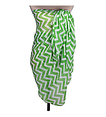 Lime Chevron Beach Wrap #WRAP-LIME