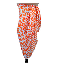 Orange Interlocking Circles Beach Wrap #WRAP-ORG