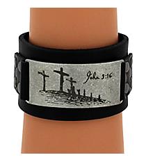 John 3:16 Leather Wriststrap #WRL016