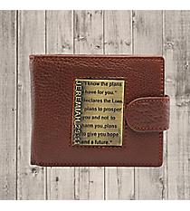 Jeremiah 29:11 Brown Genuine Leather Bi-Fold Wallet #WT015